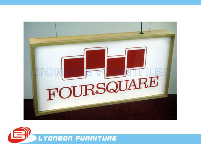 Paint / Melamine Finished Wood Light Box For Retail , Wood Display Parts